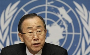 DIPLOMATIC DILEMMA: The UN Secretary General, Ban Ki-Moon insists on jaw-jaw, not war-war to sort out Syria
