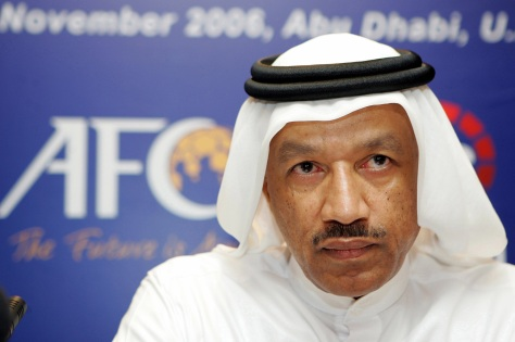 CUP TIED: Ex-Asia soccer boss Mohammed Bin Hammam is accused of 'buying' the World Cup for the tiny Arab emirate